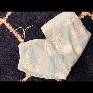 Gap Pajama Pants Aloha Hawaii Motif sz L